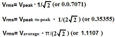 rms-formülü