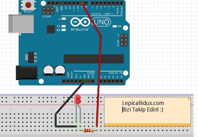 Arduino İle led yakma teknoloji projeleri