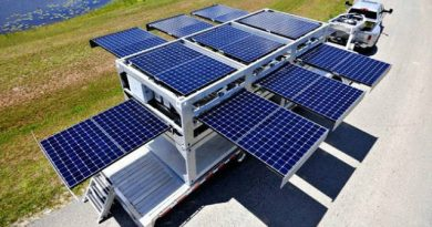 Mobil Güneş Paneli Sistemi İle İstenilen Yerde Sulama Yapılıyor