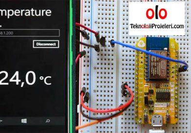 ESP8266 ile Sıcaklık Sensörünü Kullanarak Ölçüm Alma Projesi