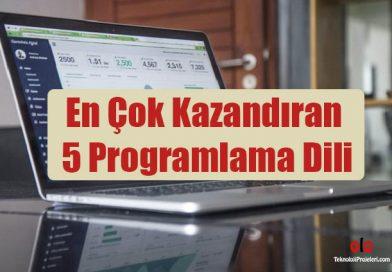 En Çok Kazandıran 5 Programlama Dili