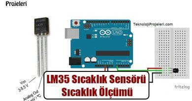 LM35 Sensörü ile Sıcaklık Ölçümü