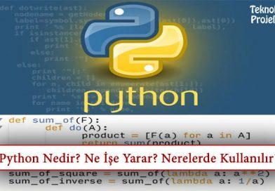 Python Programlama Nedir? Ne İşe Yarar? Nerelerde Kullanılır?