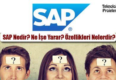 SAP Nedir? Ne İşe Yarar? Özellikleri Nelerdir?
