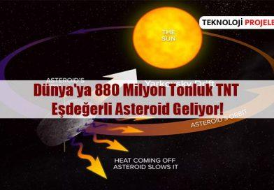 Dünya'ya Doğru 880 Milyon Tonluk TNT Eşdeğerli Asteroid Geliyor!