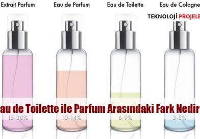 Eau de Toilette ile Eau de Parfum Arasındaki Fark Nedir?